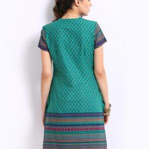 Aurelia Women Green Printed Kurta (..